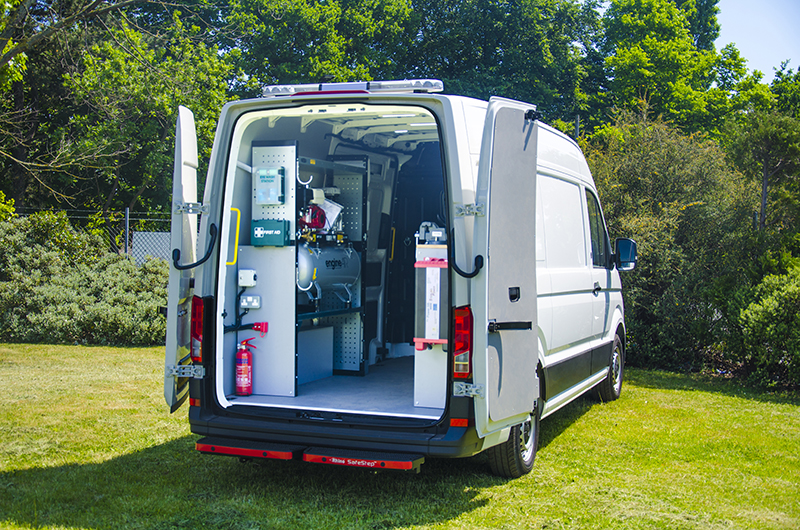 VW Crafter Service Racking